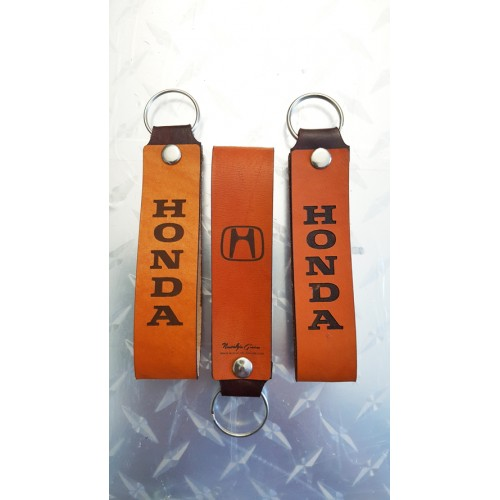 HONDA LEATHER KEYCHAIN