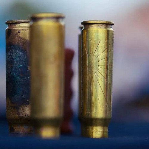 BRASS SHELL CASING RISING SUN